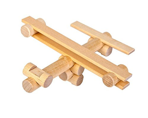 Airplane ALL Wood Log Construction Toy