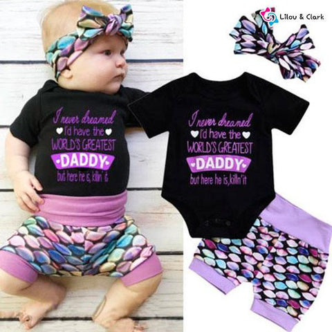 Love Daddy Baby Girl's Outfit