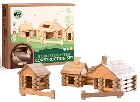 Build With Logs - 111 Wooden Blocks Construction Set