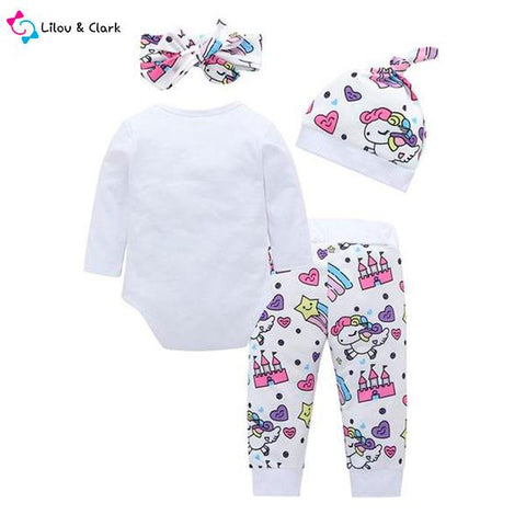 Lady Unicorn Baby Girl's Outfit