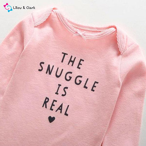 The Snuggle Is Real Baby Girl's Set