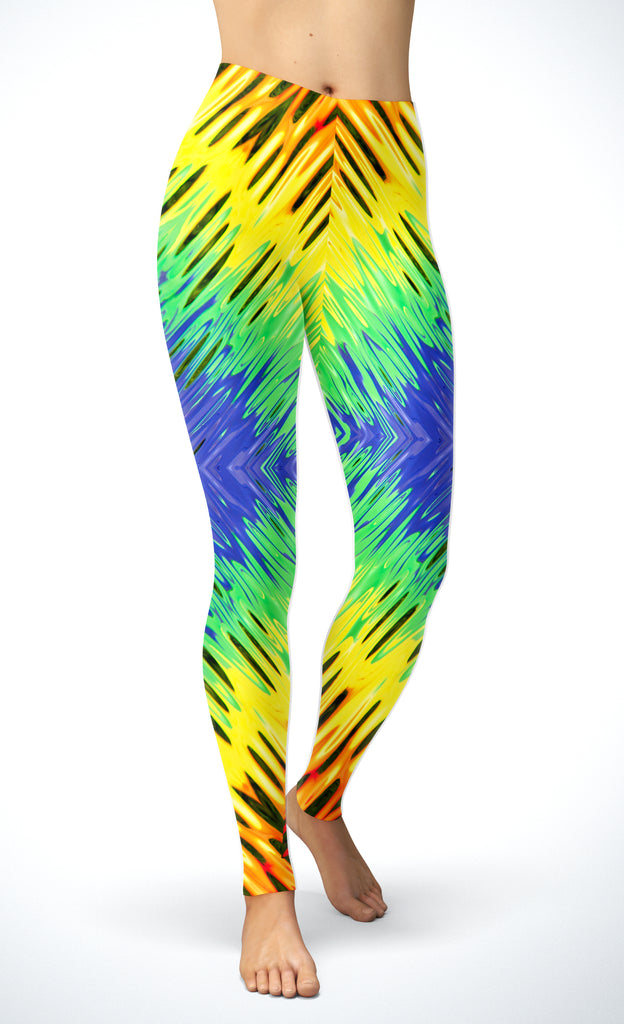 Abstract Rainbow Leggings