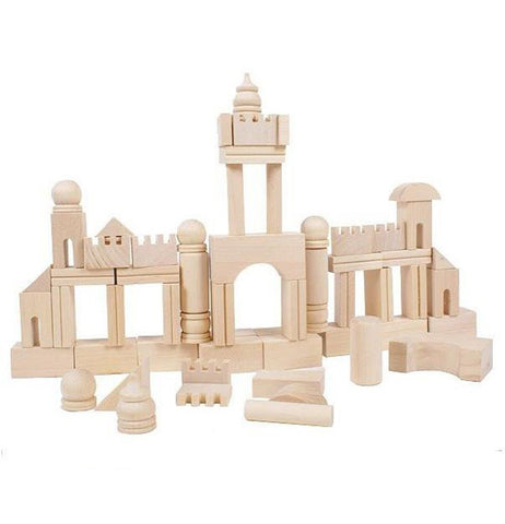 65pcs Natural Wood Montessori Blocks
