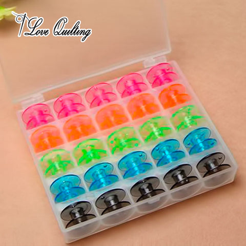 Image of Stitch-n-go™ Organizer - Colorful 25Pcs Bobbins Storage case