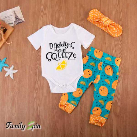 Miss Lemon Pie Baby Girl's Summer Outfit