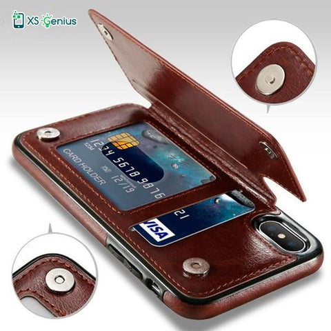 XS Genius™ - The Genuine Leather Wallet Case For Samsung S9 / S9 Plus