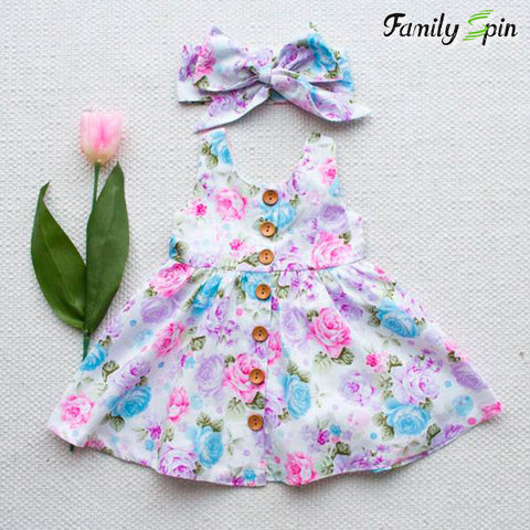 Little Bouquet Baby Girl's Summer Dress