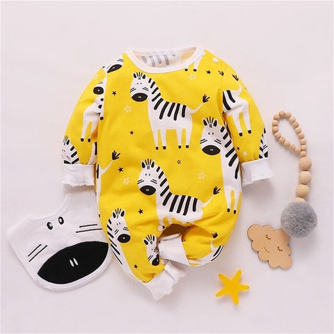 Baby Zebra Cotton Jumpsuit