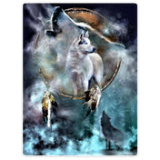 Forest Wolf Fleece Blanket