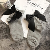 Everyday Chic! Cotton Socks with a Bow