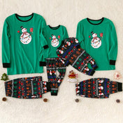 Christmas Snowman Family Matching Pajamas