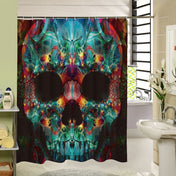 Translucent Skull Bath Curtain