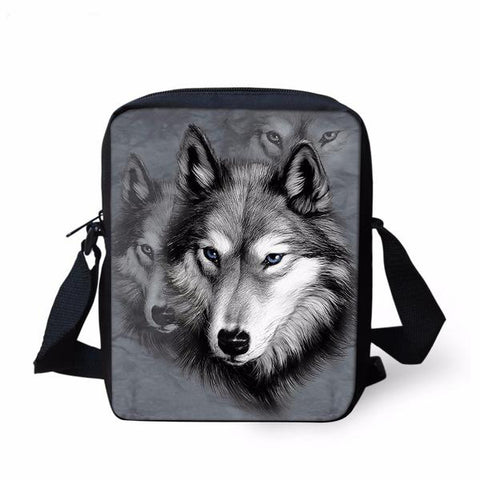 Grey Wolf Messenger Bag