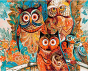 Vibrant Owls - Dr-Arty™ - Paint By Numbers Set
