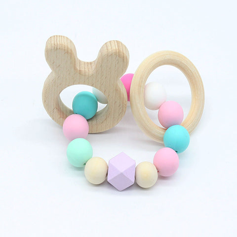 Wooden Bunny Baby Teething Toy - Giveaway