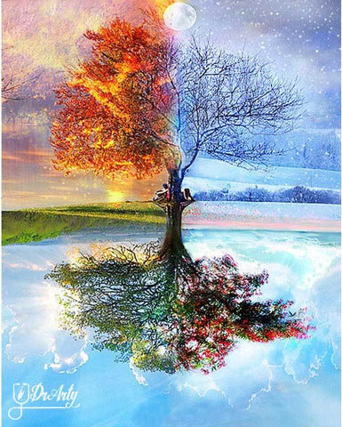 Image of All Seasons Tree - Dr-Arty™ - Paint By Numbers Set