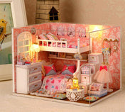 Handmade Wooden Mini Dollhouse