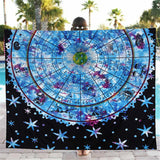 Zodiac Sun Chart Beach Throw