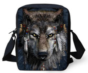 Feather Wolf Messenger Bag