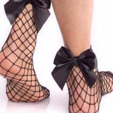 Simple but Grandiose Fishnet Socks with Bow