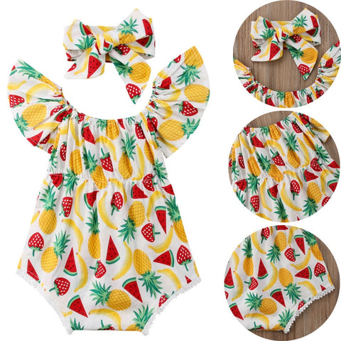 Miss Strawberry Baby Girl's Summer Set