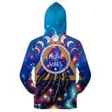Positive Vibes Moon Hoodie By Pixie ColdArts