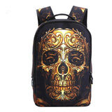 3D Skull Laptop Backpack