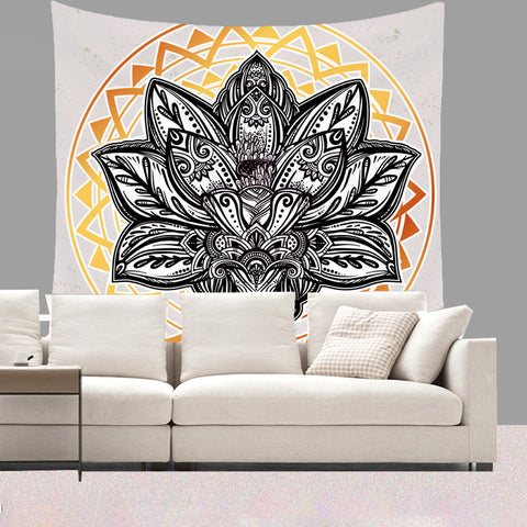 Lotus Flower Wall Tapestry