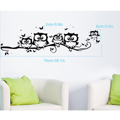 Owl Family On My Wall Sticker
