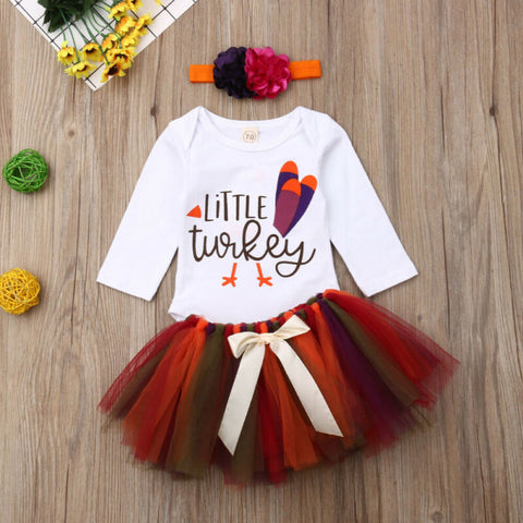 Thanksgiving Baby Girl's Tulle Set
