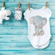 Mr. Elephant Premium Screen Printed Onesie