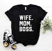 Mom Wife Boss Tee