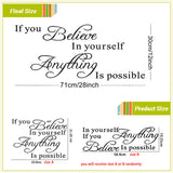 Believe In Yourself Wall Sticker - Free Offer - $0.00