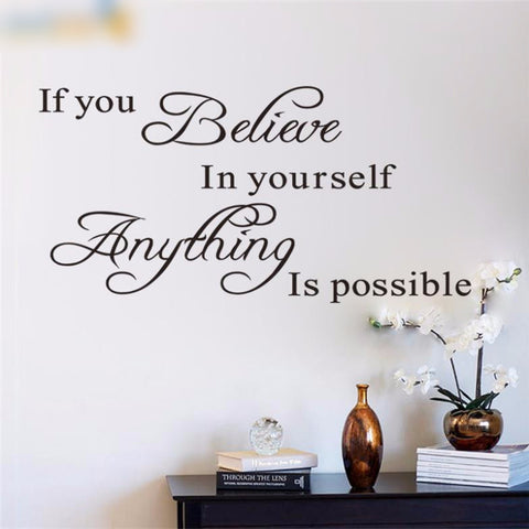 Image of Believe In Yourself Wall Sticker