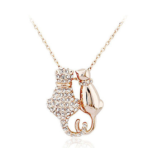 Cute Cats Couple Necklace