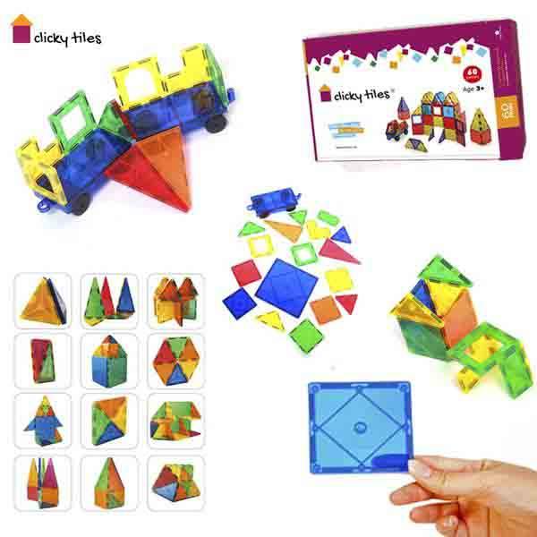 Clicky Tiles®  - Premium Set - 60 Pcs