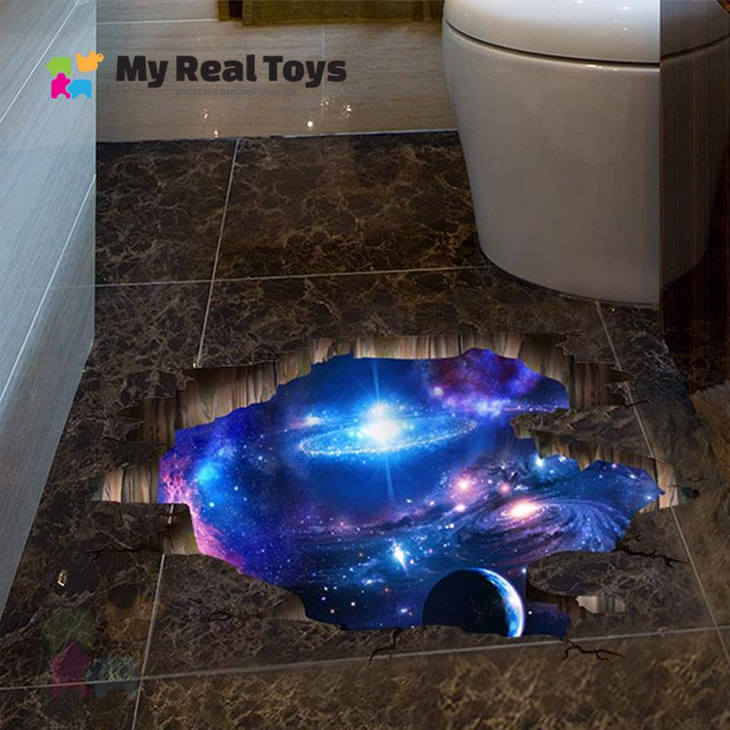 Fall Into Space 3D Sticker