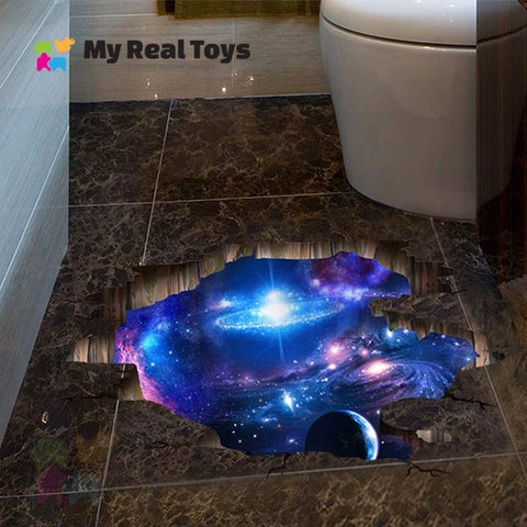 Image of Fall Into Space 3D Sticker