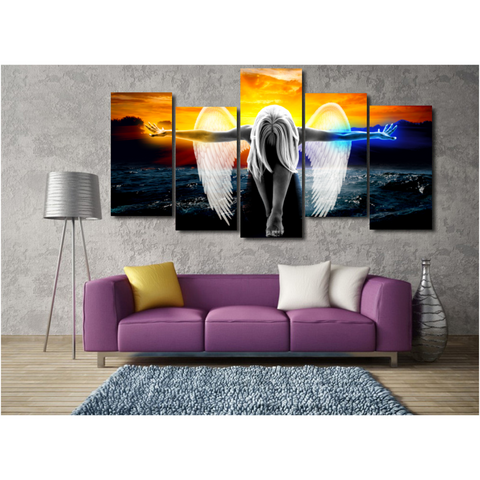 Image of Fire & Frost Angel Power Canvas