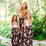 2-piece Floral Skirt and Tee Set for Mommy and Me