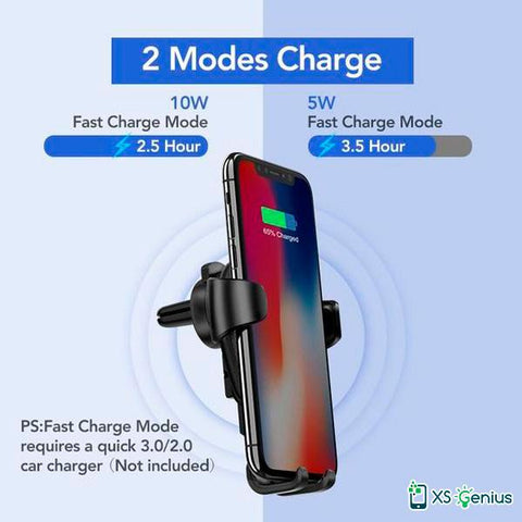 XS Genius™  - The Ultimate Wireless Charger Car Mount Phone Holder for iPhone XS / XS MAX