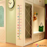 Animal Height Measurement Kid's Room Wall Sticker Set