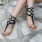 Handmade Genuine Leather Skull Sandals