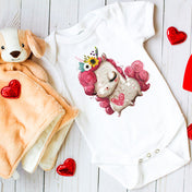 I Love Unicorns Premium Screen Printed Onesie
