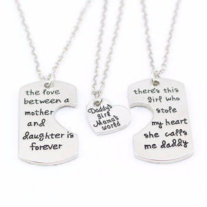 3 Piece Daddy's Girl Mama's World Necklace Giveaway