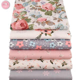 6pcs Pink Floral Fat Quarters - 100% Cotton