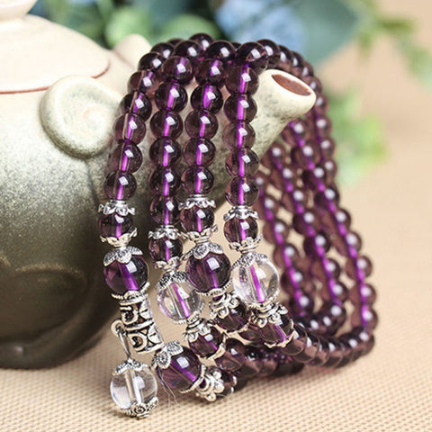Buddhist Amethyst Mala Bracelet - Free Offer - $0.00