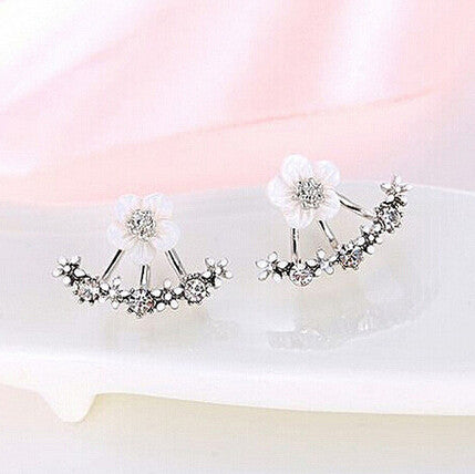 Image of Crystal Flower Stud Earrings