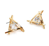 Exquisite Triangle Crystal Zircon Earrings Free Offer - $0.00