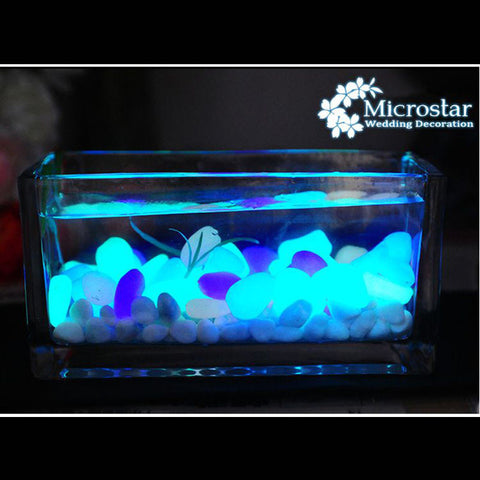 Glow In The Dark Luminous Pebbles Stones - 10pcs